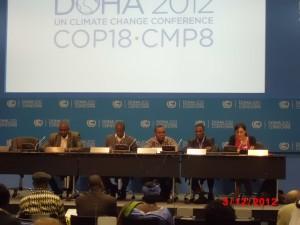 Les membres du Réseau présentant leurs projets réussis en matière de changement climatique