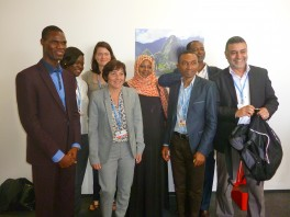 Photo avec la Ministre française au développement et à la Francophonie