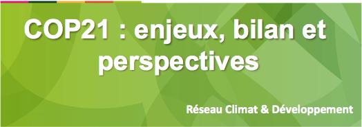 COP21 : enjeux bilan et perspectives